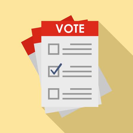 Illustration pour Election paper icon. Flat illustration of election paper vector icon for web design - image libre de droit