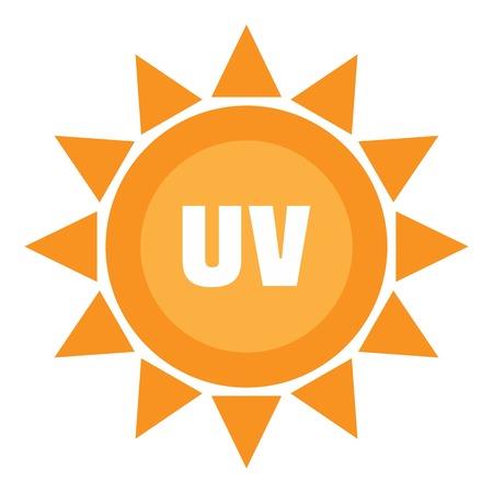 Foto per Uv sun logo, flat style - Immagine Royalty Free