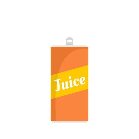 Foto de Juice can icon, flat style - Imagen libre de derechos