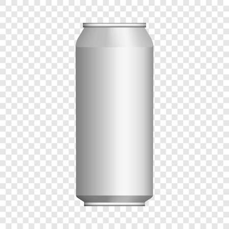 Foto de Drink tin can mockup, realistic style - Imagen libre de derechos