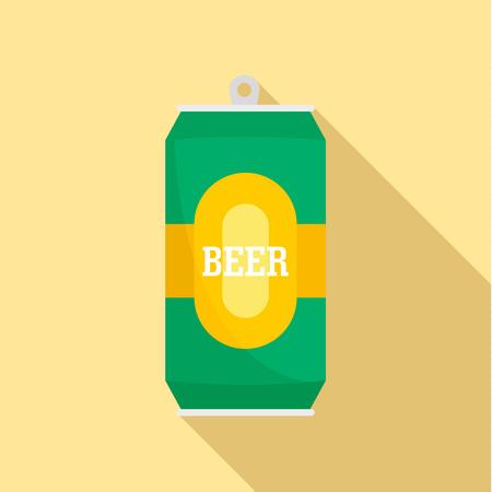 Foto de Can of fresh beer icon. Flat illustration of can of fresh beer icon for web design - Imagen libre de derechos