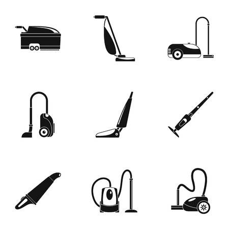Illustration pour Carpet sweeper icon set, simple style - image libre de droit