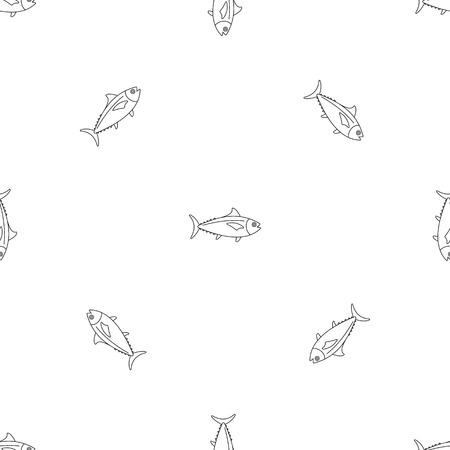 Tuna fish pattern seamless vector repeat geometric for any web design