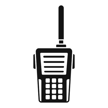 Illustration pour Walkie talkie icon. Simple illustration of walkie talkie vector icon for web design isolated on white background - image libre de droit