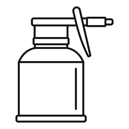 Illustration pour Car bottle spray icon, outline style - image libre de droit