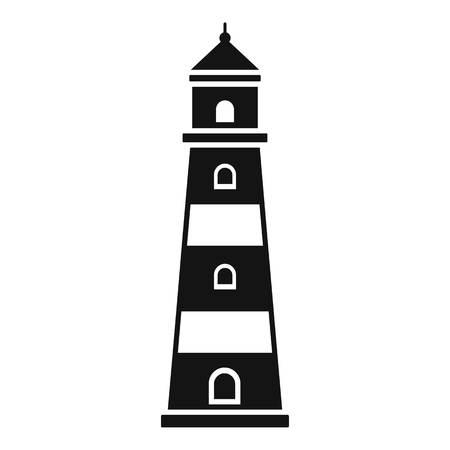 Photo for Coast lighthouse icon. Simple illustration of coast lighthouse icon for web design isolated on white background - Royalty Free Image