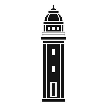 Sea lighthouse icon. Simple illustration of sea lighthouse icon for web design isolated on white background