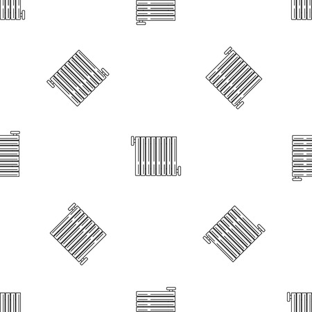Radiator icon. Outline illustration of radiator icon for web design isolated on white background