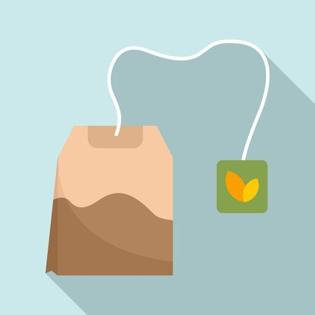 Ilustración de Tea bag icon. Flat illustration of tea bag vector icon for web design - Imagen libre de derechos
