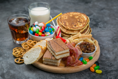 Photo for Selection of food that can cause diabetes - Royalty Free Image