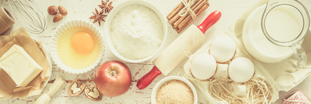 Photo for Baking ingredients background - Royalty Free Image