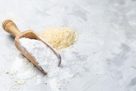 Foto de Gluten free concept - rice flour, copy space - Imagen libre de derechos