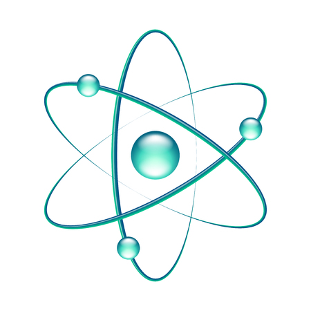 Illustration pour Atom isolated on white photo-realistic vector illustration - image libre de droit