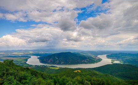Photo for Bend of Danube river in Predikaloszek, Hungary - Royalty Free Image