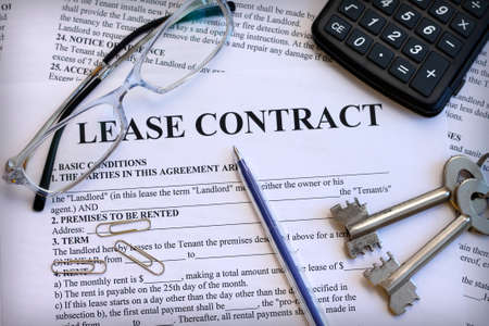 Photo for Lease contract, close-up - Royalty Free Image