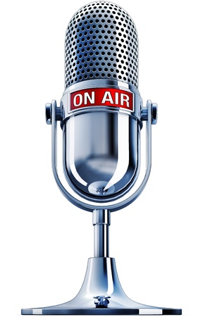 Photo for on air microphone - Royalty Free Image