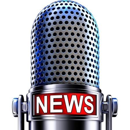Photo for news microphone - Royalty Free Image