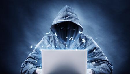 Foto de hacker on a computer - Imagen libre de derechos