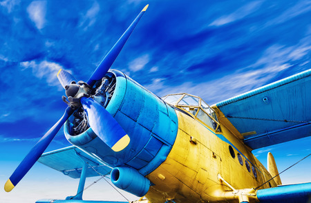 Photo for vintage airplane - Royalty Free Image