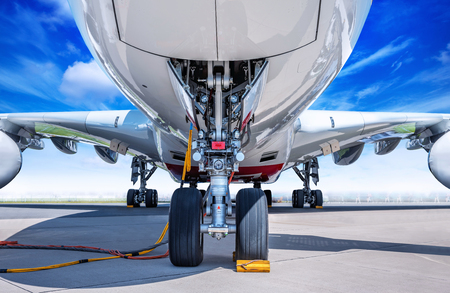 Photo for Landing Gear of a modern airliner - Royalty Free Image