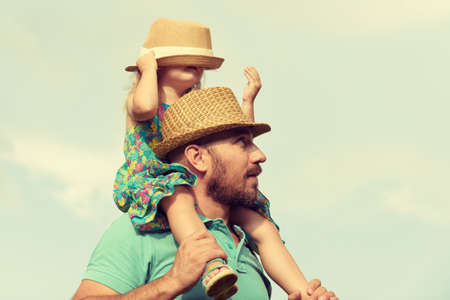 Photo for Happy father and daughter having fun together, family time concept - Royalty Free Image