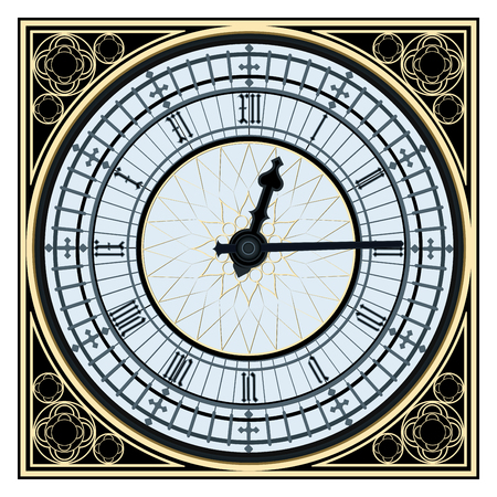 Illustration pour Famous Big Ben clock tower in vector format image on white background - image libre de droit