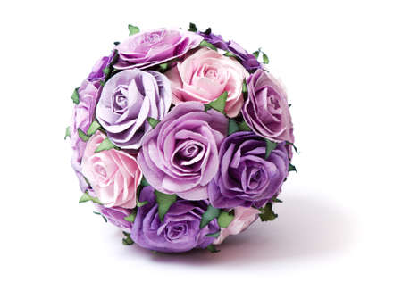 bouquet of pink and violet roses