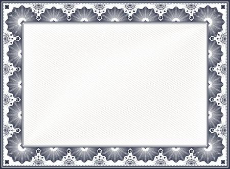 Illustration pour Diploma or Certificate Blank Vintage Template - image libre de droit
