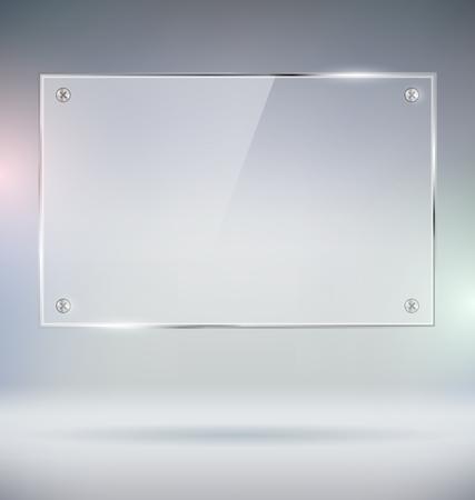 Ilustración de Blank Glass Plate Vector Mock Up - Imagen libre de derechos