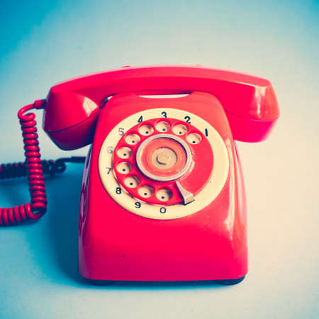 Photo for Vintage red telephone - Royalty Free Image