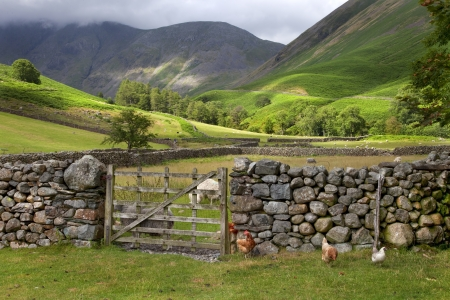 Photo pour Wasdale Head near Wast Water, the Lake District, Cumbria, England  - image libre de droit
