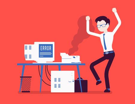 Illustrazione per Office printer error - Immagini Royalty Free