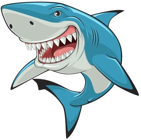 Ilustración de illustration: toothy white shark - Imagen libre de derechos