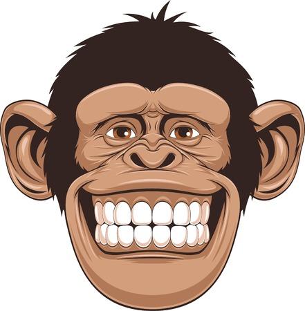 Illustration pour illustration of cheerful monkeys - image libre de droit