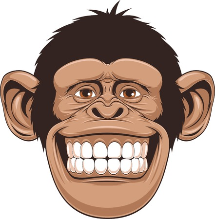 Illustration for illustration of cheerful monkeys - Royalty Free Image