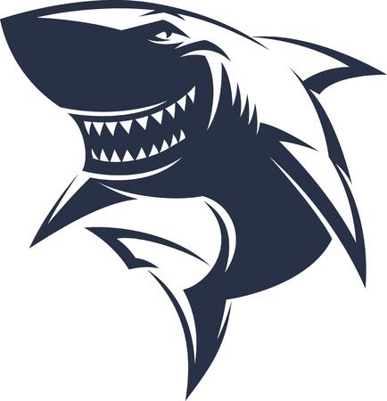 Ilustración de Modern professional sharks logo for a club or sport team - Imagen libre de derechos