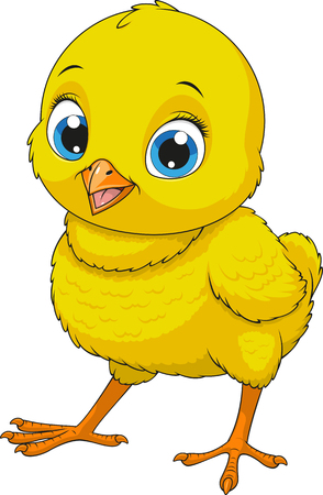 Illustration pour Vector illustration of funny baby chicken - image libre de droit