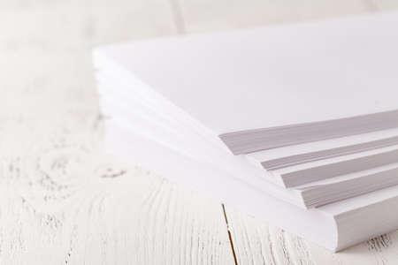 Photo pour A4 printer paper on table - image libre de droit
