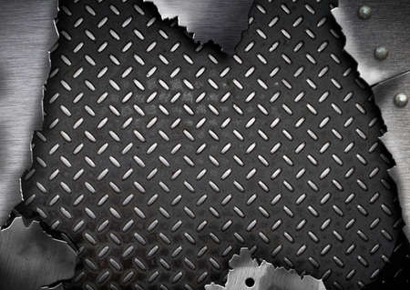 grunge cracked metal plate template