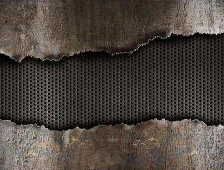 metal ripped hole background