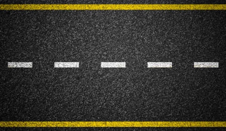 Photo pour Asphalt highway with road markings background - image libre de droit
