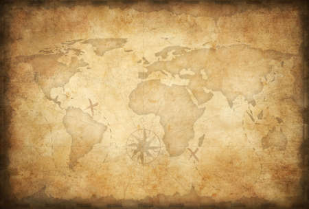 aged treasure map background mural
