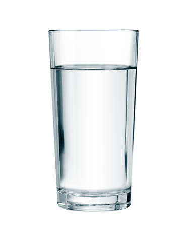 Foto de water glass isolated with clipping path included - Imagen libre de derechos