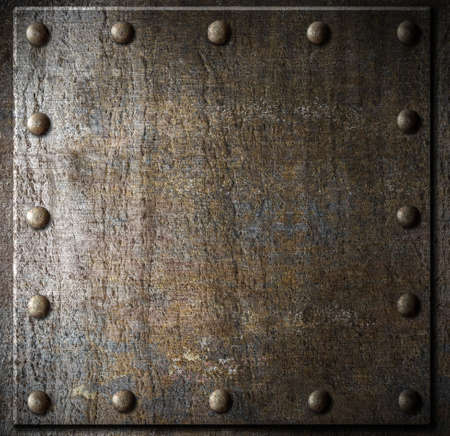 Photo pour metal background with rivets - image libre de droit
