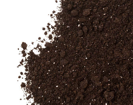 Photo for Soil or dirt crop isolated on white background - Royalty Free Image