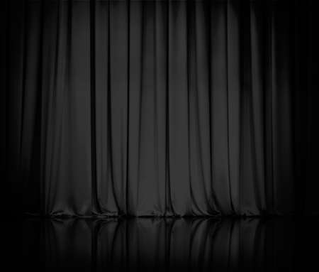 Photo pour curtain or drapes black  - image libre de droit