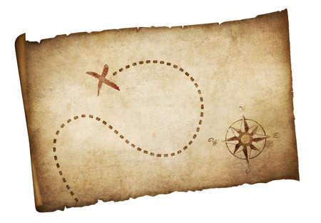 Photo pour Pirates old treasure map isolated - image libre de droit