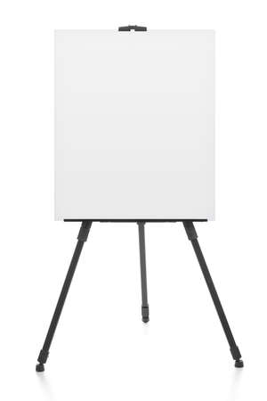 Photo pour advertising stand or flipchart or blank artist easel isolated on white - image libre de droit