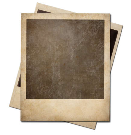 Photo pour Grunge instant photo polaroid frames isolated. Clipping path without shadows is included. - image libre de droit