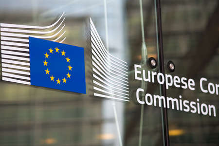 Photo for European commission official building entry - Royalty Free Image